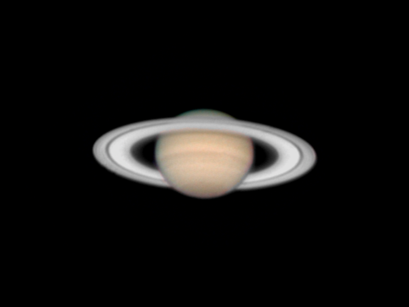 The planet Saturn on January 25, 2006